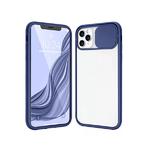 Чехол для Samsung Galaxy A10 прозр., силиконовый борт, ребристая свап-камера, темно-синяя