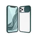 Чехол для Samsung Galaxy A10 прозр., силиконовый борт, ребристая свап-камера, темно-зеленая