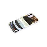 Чехол для Xiaomi Redmi 9c прозрачный борт, глянцевый, яркий рисунок, белое авто