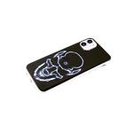 Чехол для Xiaomi Redmi Note 10 Pro прозрачный борт, глянцевый, яркий рисунок, голубой череп