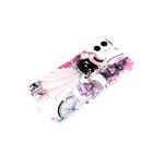 Силиконовый чехол Samsung Galaxy A10 с блестками внутри с рисунком, девушка с велосипедом