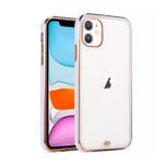 Силиконовый чехол Iphone 12 (6.1) с металическим ободком (технология 6D), сиреневый