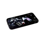 Силиконовый чехол Iphone 11 с ярким рисунком, кролик на черном