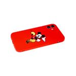 Силиконовый чехол Xiaomi Redmi Note 8 с ярким рисунком, микки на красном