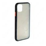 Накладка задняя для SAMSUNG Galaxy A11/M11, SHELL, пластик, силикон, матовая, цвет: чёрный