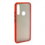 Накладка задняя для XIAOMI Redmi Note 9, SHELL, пластик, силикон, матовая, цвет: красный