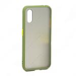 Накладка задняя для SAMSUNG Galaxy A11/M11, SHELL, пластик, силикон, матовая, цвет: хакки