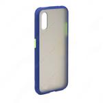 Накладка задняя для SAMSUNG Galaxy A11/M11, SHELL, пластик, силикон, матовая, цвет: синий