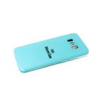 Силиконовый чехол Samsung Galaxy A50 Silicone case, с защитой камеры, бархат, без логотипа, бирюзовы