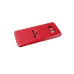 Силиконовый чехол Samsung G950F Galaxy S8 Silicone case, с защ. камеры, бархат, без лого, бордовый