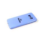 Силиконовый чехол Samsung Galaxy S21 Ultra Silicone case, с защитой камеры, бархат, без лого, голубо