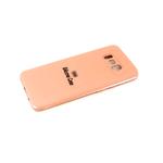 Силиконовый чехол Samsung G950F Galaxy S8 Silicone case, с защ. камеры, бархат, без лого, персиковый
