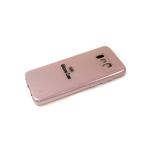 Силиконовый чехол Realme C11 Silicone case, с защитой камеры, бархат внутри, без лого, пудра