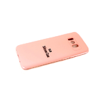 Силиконовый чехол Xiaomi POCO X3 Silicone case, с защитой камеры, бархат, без логотипа, розовый