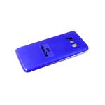 Силиконовый чехол Xiaomi POCO X3 Silicone case, с защитой камеры, бархат, без логотипа, синий