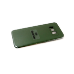 Силиконовый чехол Realme C20 Silicone case, с защитой камеры, бархат внутри, без лого, темно-зеленый