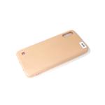 Силиконовый чехол Realme C3 силикон кавер в блистере, бархат, с защитой камеры, персик (3)