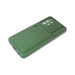 Силиконовый чехол Xiaomi Redmi Note 10 2021 софт тач, свап-камера, отделение для карточки, хаки