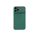 Силиконовый чехол Samsung Galaxy A10 софт тач, свап-камера, темно-зеленый