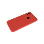Силиконовый чехол Xiaomi Redmi Note 8T Soft-touch, однотонный, с защитой кам., без лого, красный