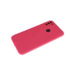 Силиконовый чехол Xiaomi Mi 10T матовый софт-тач без логотипа, защита камеры, малиновый