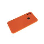 Силиконовый чехол Xiaomi Redmi Note 8T Soft-touch, однотонный, с защитой кам., без лого, оранжевый