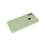 Силиконовый чехол Xiaomi Redmi Note 8T Soft-touch, однотонный, с защитой кам., без лого, салатовый