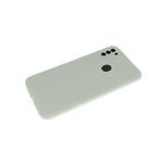 Силиконовый чехол Iphone 11 с лого, закрытый, с защитой камеры, серый