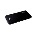 Силиконовый чехол Xiaomi Redmi 9T тактильные ромбы с фигуркой крокодил, антишок углы, черный