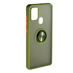 Накладка задняя FaisON для SAMSUNG Galaxy M11, Ring Series 2, матовая, держатель, магнит, цвет: хакк