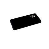 Силиконовый чехол Samsung Galaxy M32 поверхность софт-тач, защита камеры, черный
