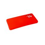 Силиконовый чехол Samsung Galaxy M32 поверхность софт-тач, защита камеры, красный