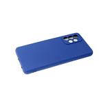Силиконовый чехол Samsung Galaxy M32 поверхность софт-тач, защита камеры, темно-синий