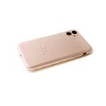 Силиконовый чехол Iphone 11 Silikone case без лого, закрытый, с защитой камеры, в блистере, пудра