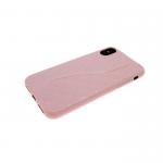 Силиконовый чехол Iphone 6/6S волна с перфорацией, розовый