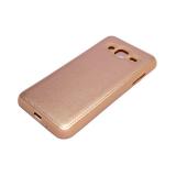 Силиконовый чехол LG K4 2017 Кожа с логотипом розовый