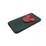 Силиконовый чехол Samsung J710 Galaxy J7 2016 Ratating Stents с кольцом, красный