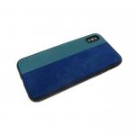 Силиконовый чехол Samsung J710 Galaxy J7 2016 с бархатом, синий