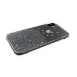 Силиконовый чехол Xiaomi Redmi 4X Прозрачный с блестками и сердечками, серебро