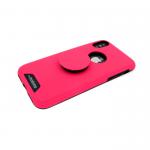 Задняя крышка Samsung A730F Galaxy A8 Plus 2018 MOTOMO с попсокет, ярко-розовая