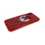 Силиконовый чехол Samsung Galaxy J1 mini Prime Блестящий с цветами, бант и мелкие цветы красный