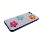 Задняя крышка Iphone 5/5S кожаные цветы, фиолетовая