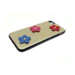Задняя крышка Iphone 5/5S кожаные цветы, золотая