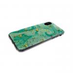 Силиконовый чехол Xiaomi Redmi Note 4X Красочные разводы, зеленые