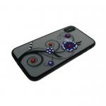 Задняя крышка Iphone 7/8 матовые цветы крупные, фиолетовые