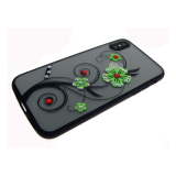 Задняя крышка Huawei Honor 10 матовые цветы крупные, зеленые