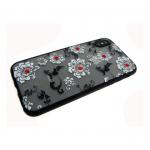 Задняя крышка Iphone 7/8 матовые цветы мелкие, белые