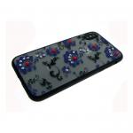 Задняя крышка Iphone 5/5S матовые цветы мелкие, фиолетовые