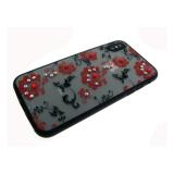 Задняя крышка Samsung A510 Galaxy A5 2016 матовые цветы мелкие, красные