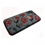 Задняя крышка Iphone 6/6S матовые цветы мелкие, красные